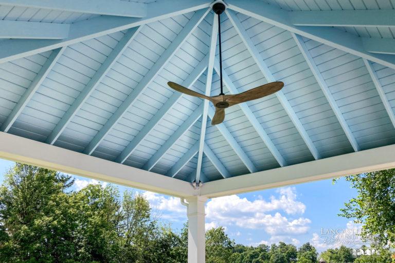 18x18 caribbean modern pavilion white ceiling