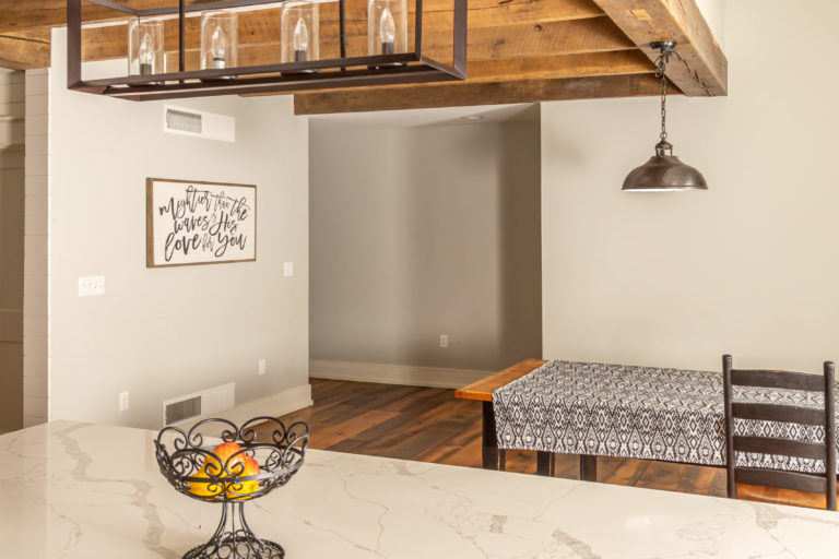 timber frame reclaimed kitchen