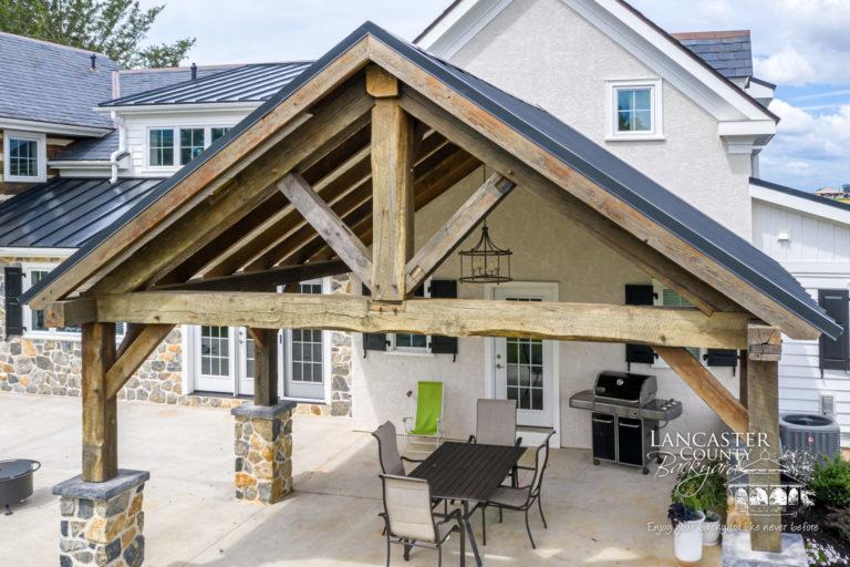 timber frame reclaimed pavilion