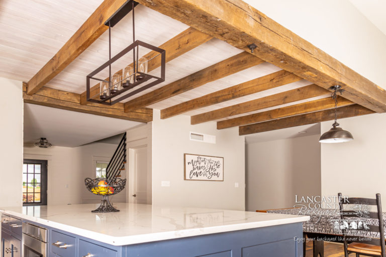 timber frame reclaimed kitchen and pavilion