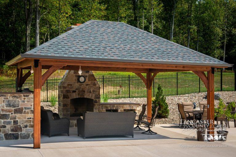 16x20 cheyenne wood pavilion
