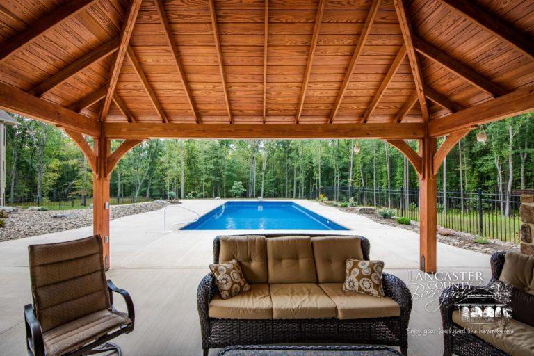 16x20 Cheyenne Wooden Pavilion dream backyard space