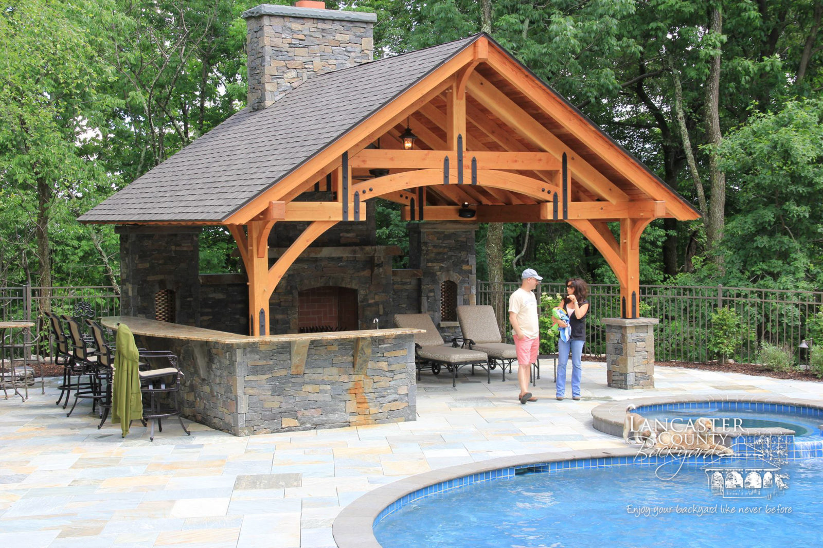timber frame pavilion in pa