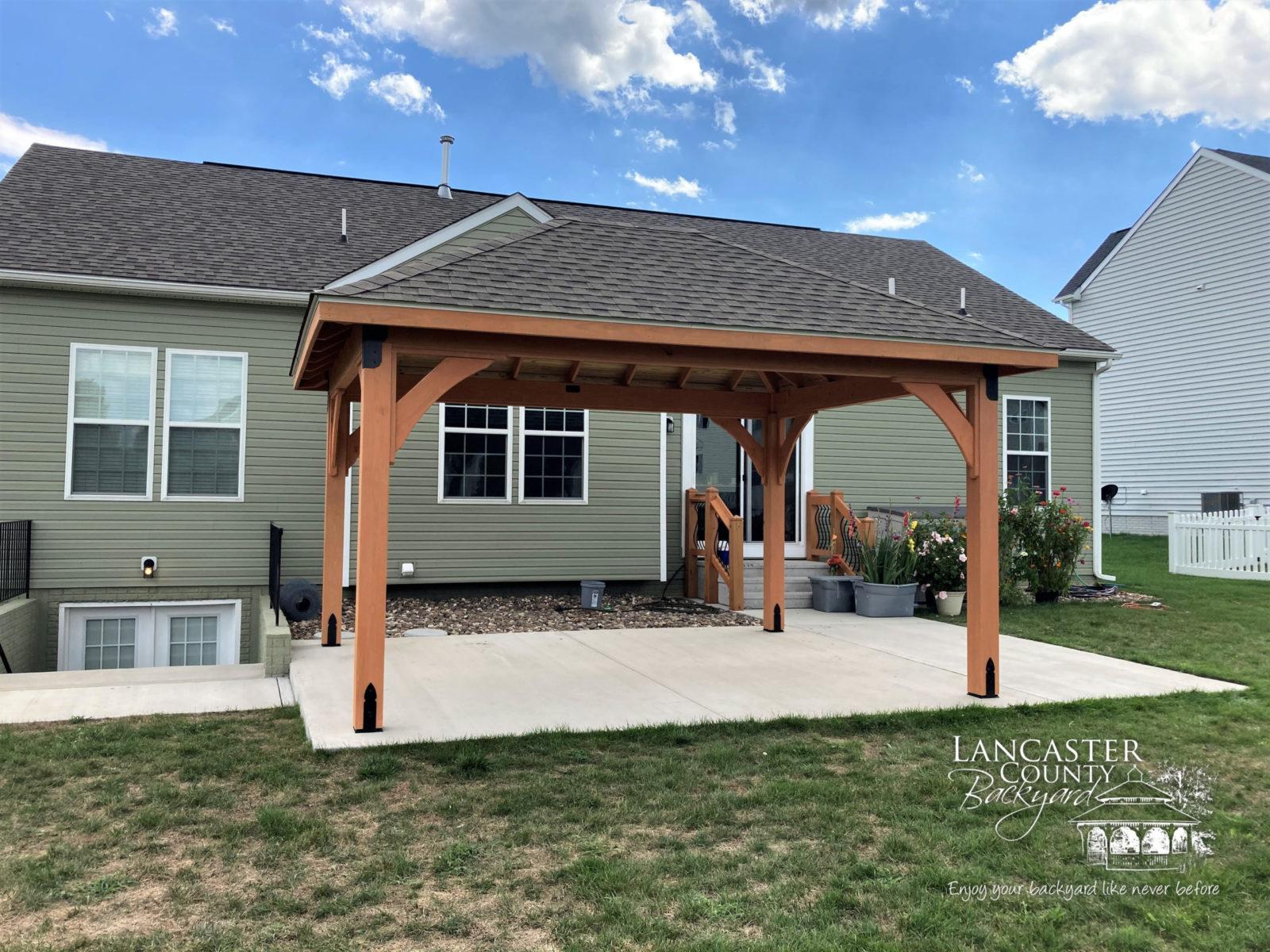 outdoor wood pavilion