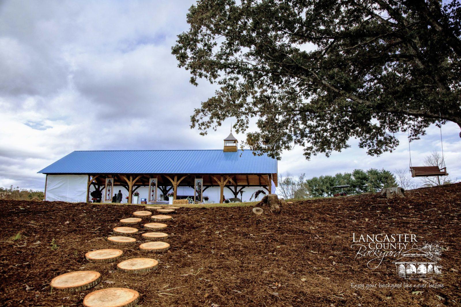 pavilion with regular metal roof