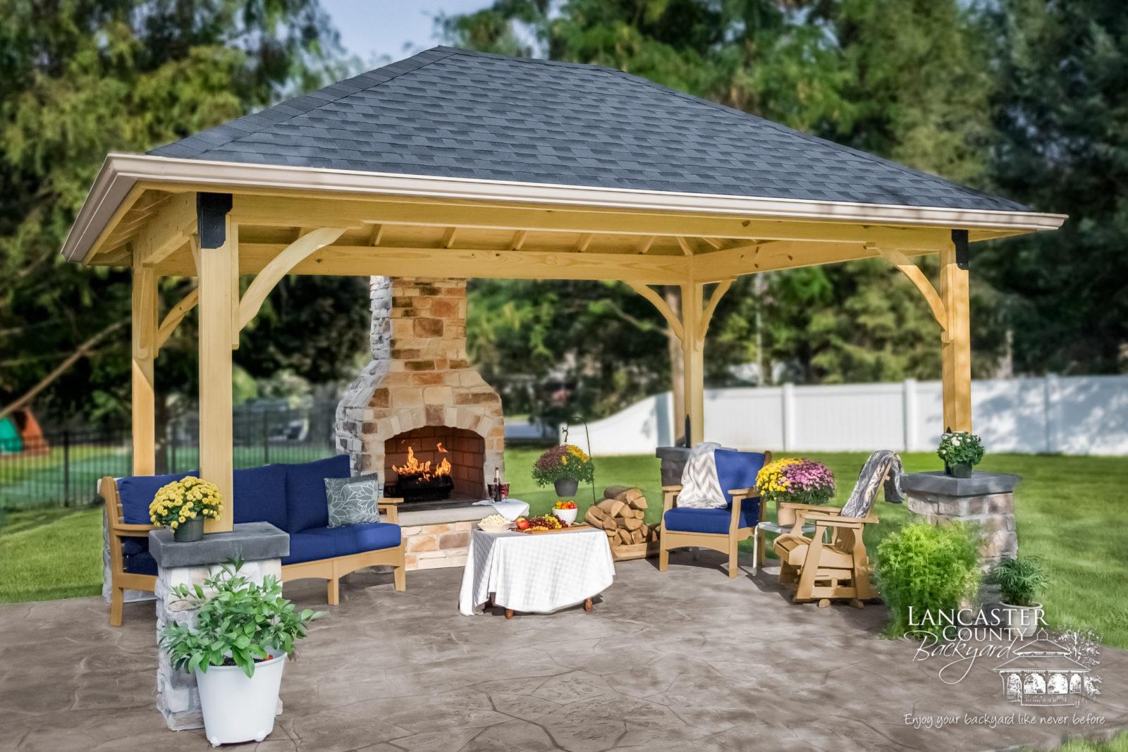 backyard wooden pavilions in nj, ny, pa, va