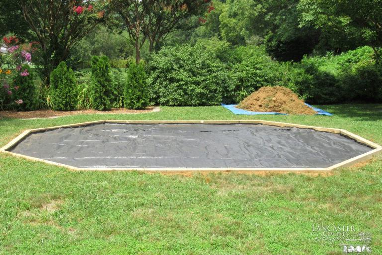 preparing pad for gazebo