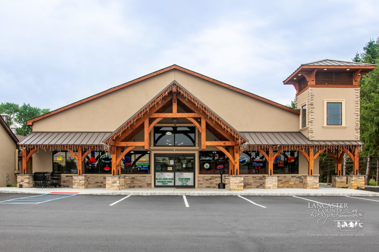 timber frame storefront in washington new jersey