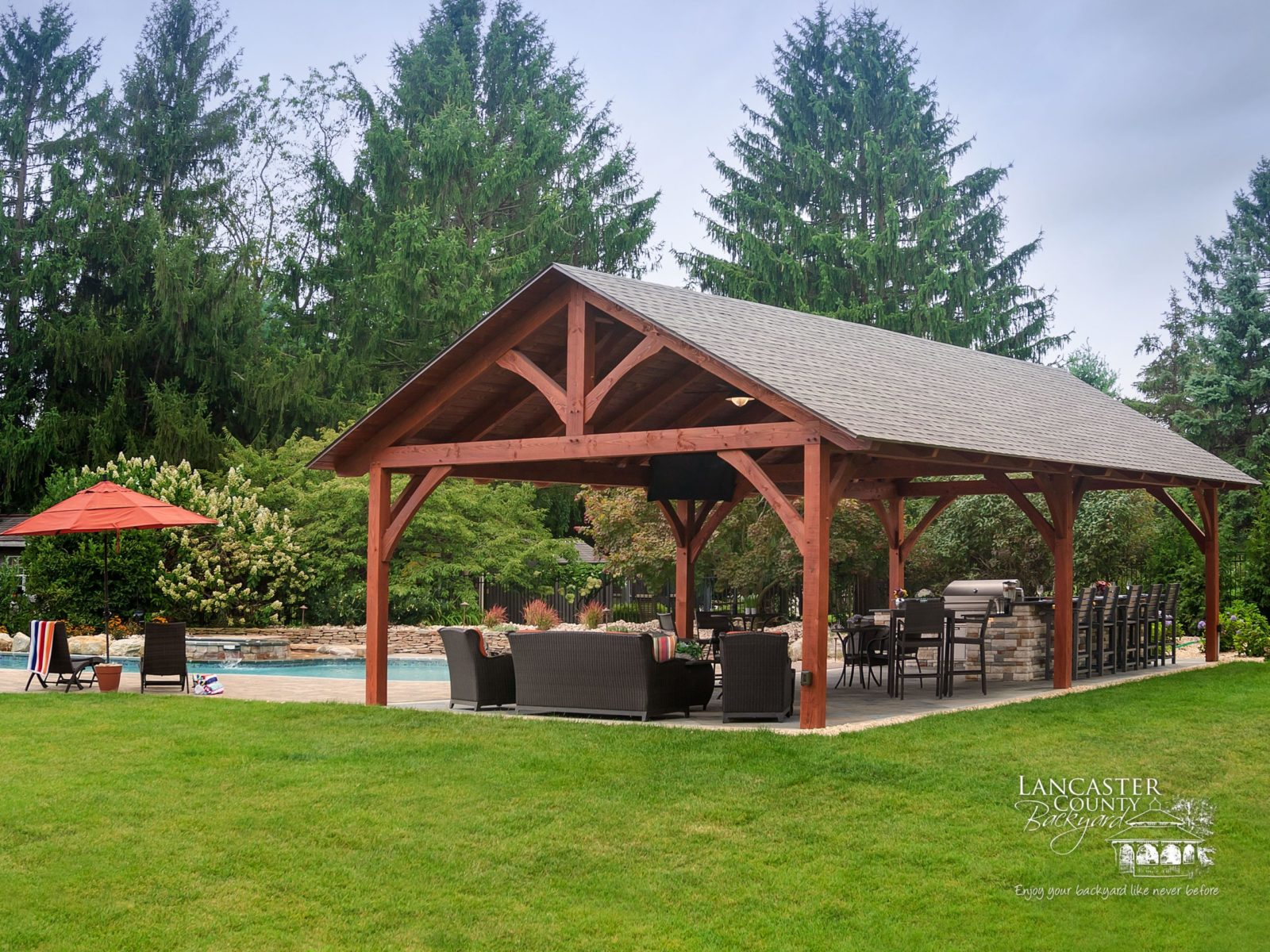 20x40 tim & heather o'connell timber frame pavilion 2