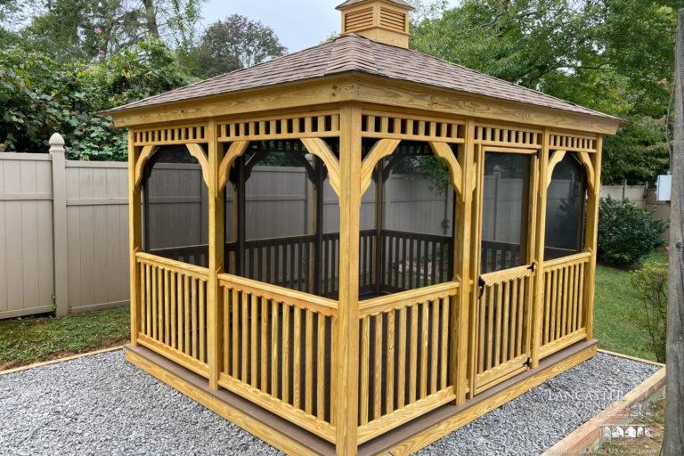 10x12 Wooden Rectangle Garden Gazebo