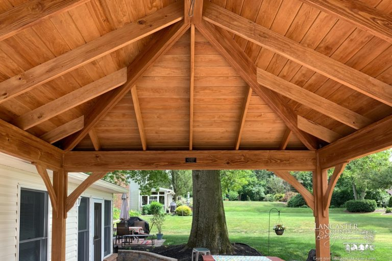 12x14 Lakefront Wood Pavilion