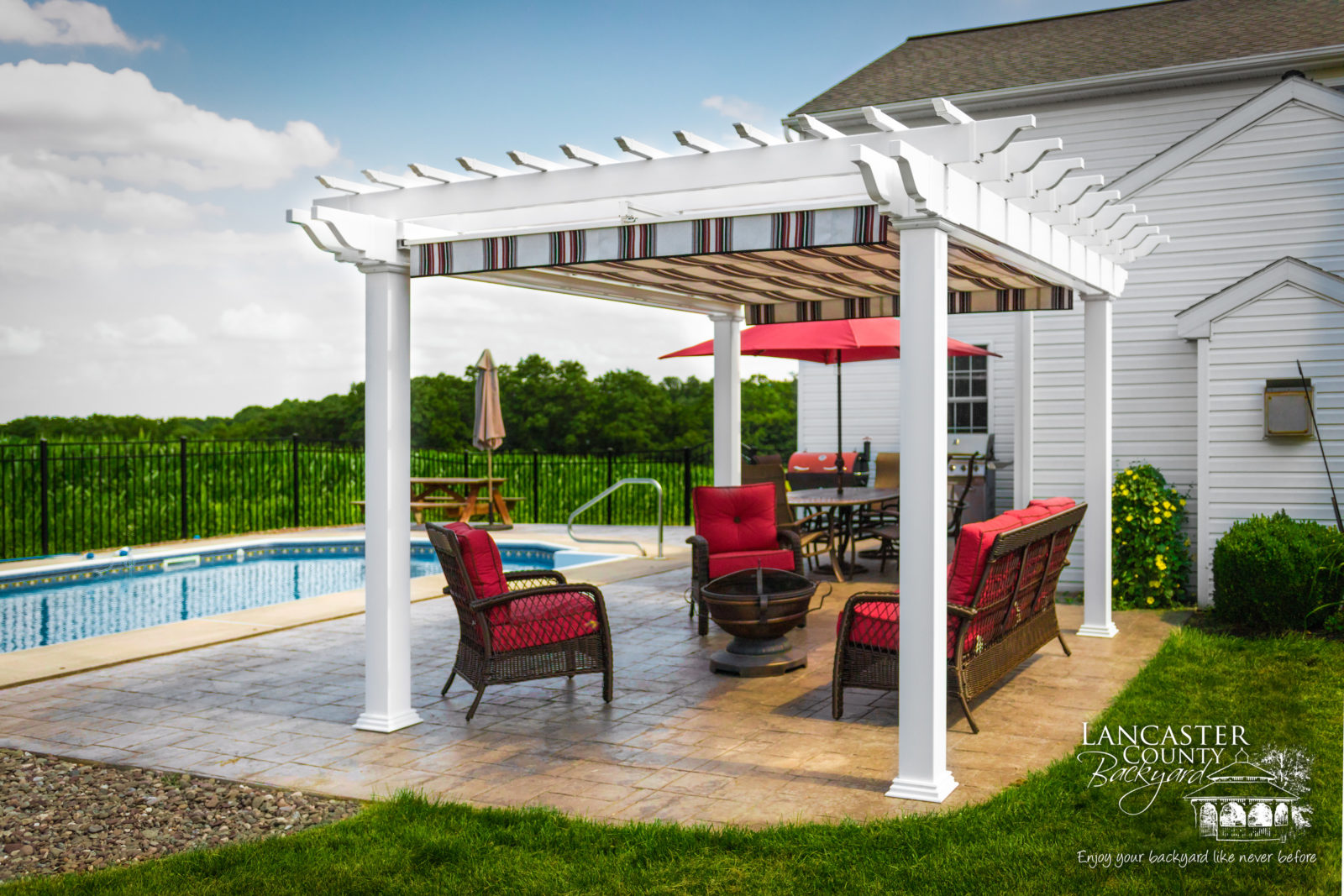 beautiful backyard design idea for pool