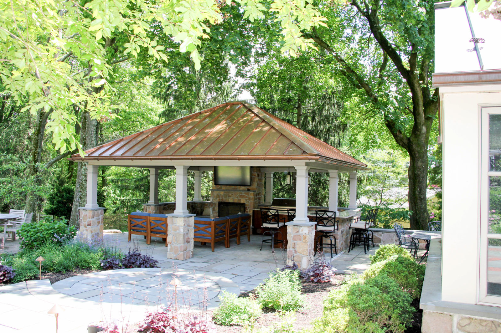luxurious backyard pavilion living space pa ct va