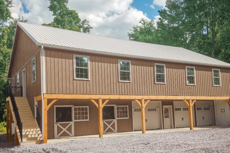 timber frame construction garage