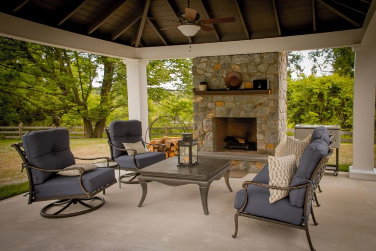 warm relaxing design for backyard comfort idea photo