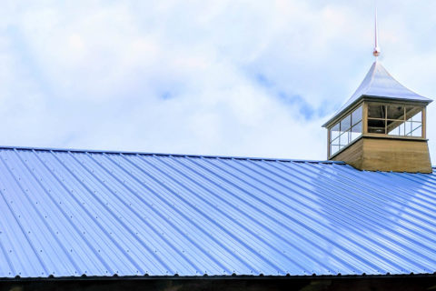 regular metal roof on timber frame custom pavilion