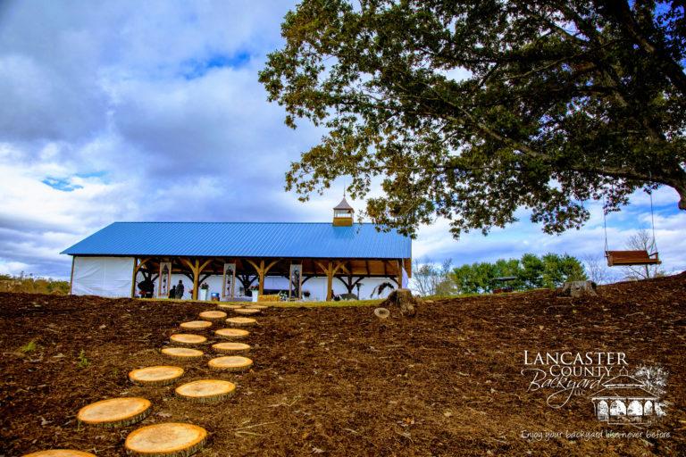 wooden weeding pavilion
