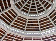 triple roof painted gazebo ceiling