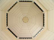 vinyl covered backyard gazebo ceiling