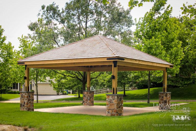 20x20 wood pavilion2