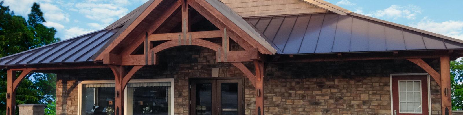 Sauders New Timber Frame Storefront