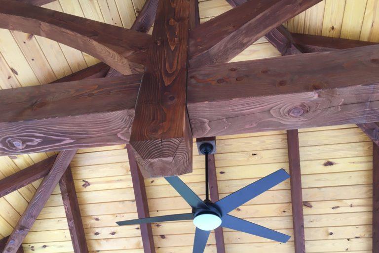 30×45 montford pavilion with timber frame trusses