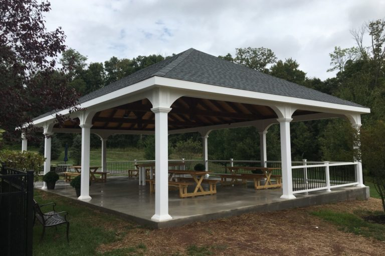 30×45 montford pavilion with timber frame trusses 1