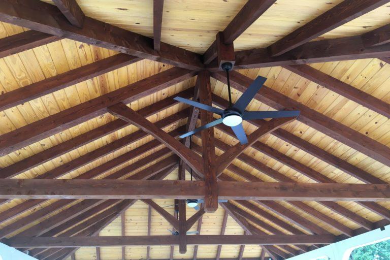 30×45 montford pavilion with timber frame trusses 2