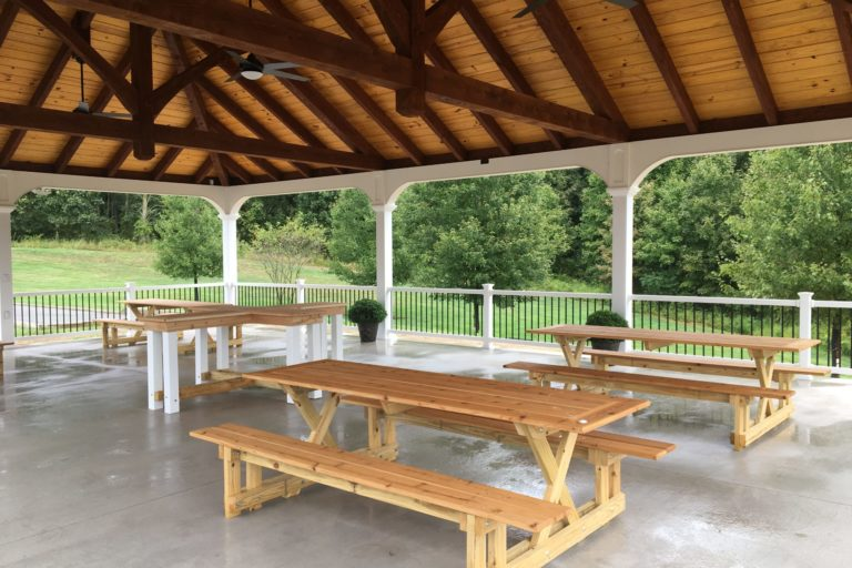 30×45 montford pavilion with timber frame trusses 5