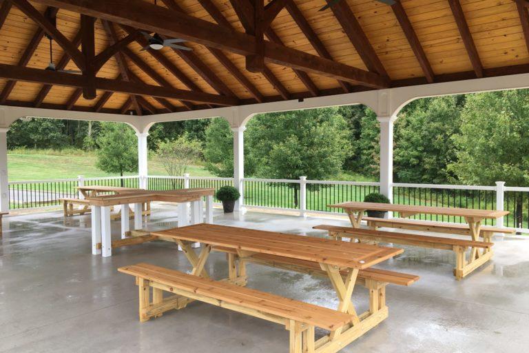 30×45 montford pavilion with timber frame trusses 5