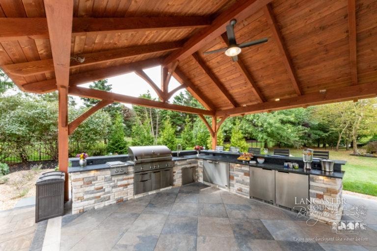 20x40 Kingston timber frame outdoor pavilion