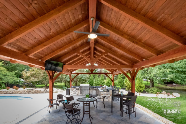 20x40 Kingston timber frame backyard pavilion