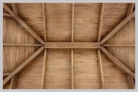 patio pavilion wood ceiling