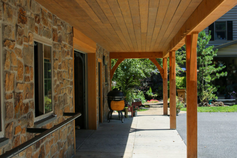 narvon run construction timber frame pavilion