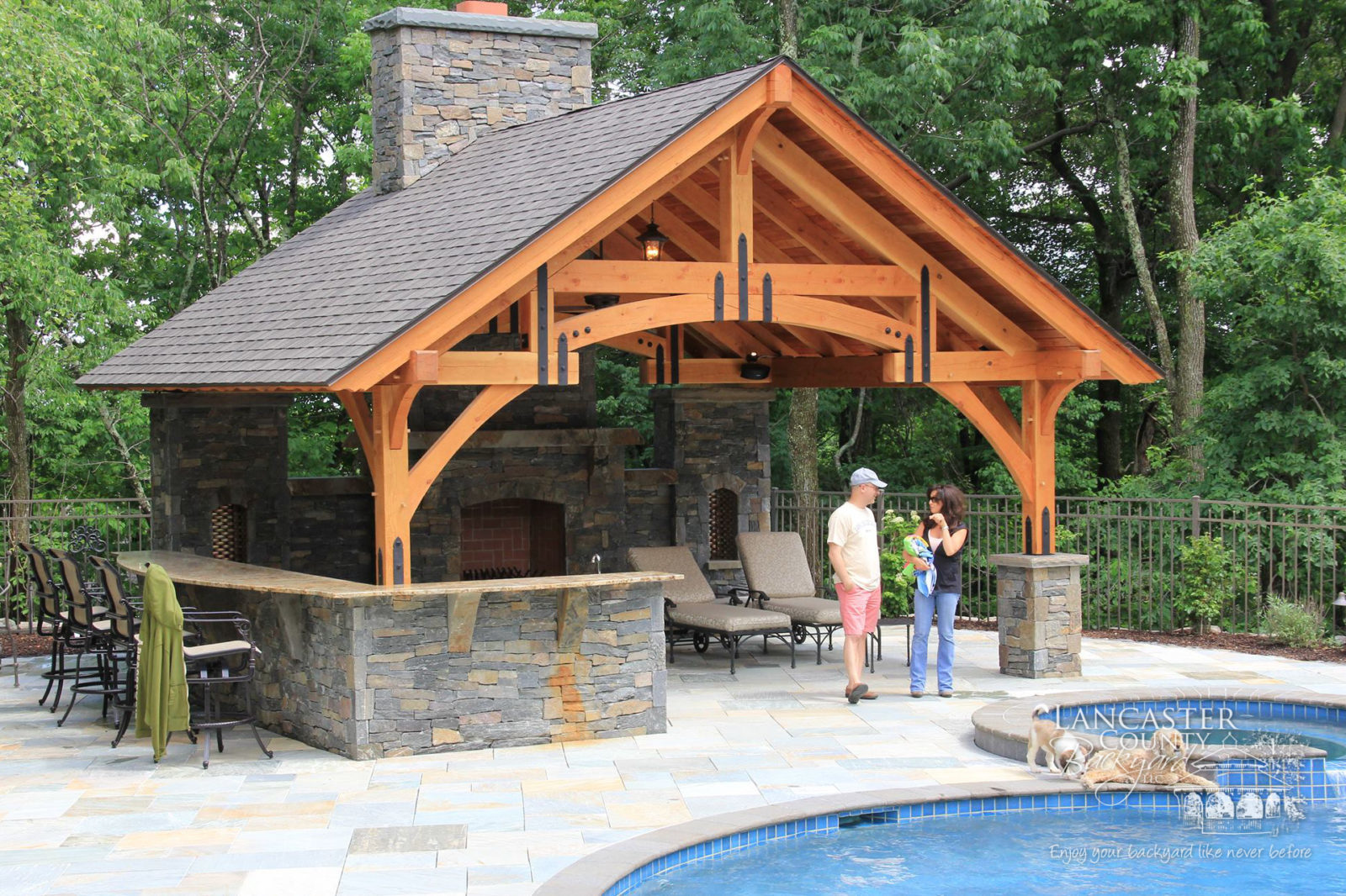outdoor pavilions timber frame