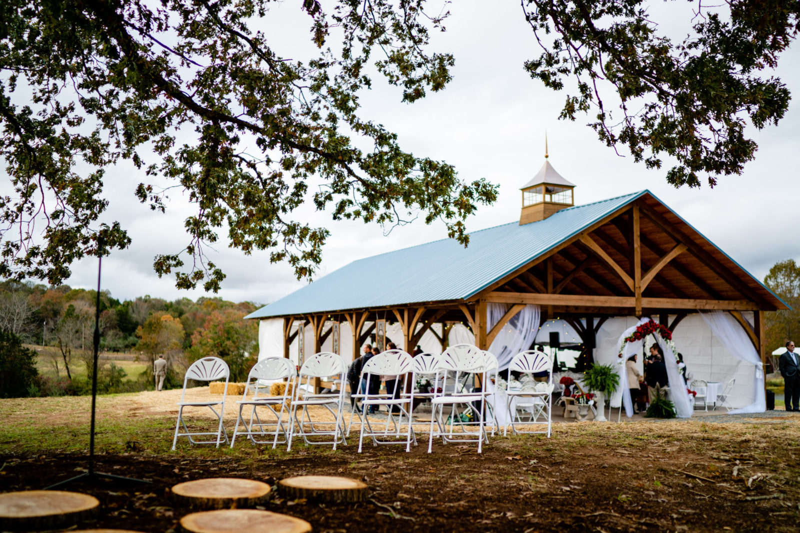 timber frame wedding amish pavilion