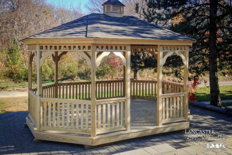 12x16 wood garden gazebo