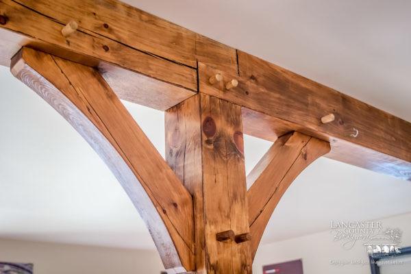 custom timber framing in a house in pennsylvania