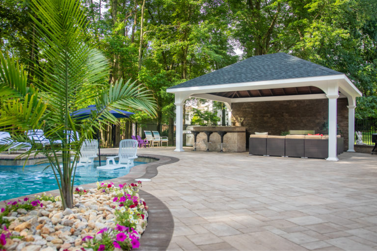 A custom backyard pavilion in New Jersey